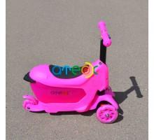 Самокат для детей от 1 года ATEOX Мини с сиденьем-ящиком для игрушек