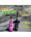 Детский трехколесный самокат Scooter Super Maxi (Скутер Макси) с клаксоном для детей от 3-10 лет