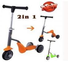 Детский самокат-беговел Scooter 2в1 с сиденьем