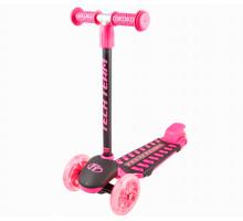 Детский самокат Techteam LAMBO 2019 (розовый) со светящимися колесами