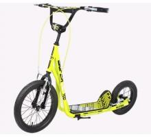 Самокат для взрослых с надувными колесами TT Super Jet 700 2017 (желтый)