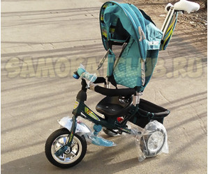 Трехколесный велосипед Techteam для детей с родительской ручкой