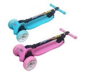 Самокат детский 3-х колесный Scooter Maxi со светящимися колесами (складной)