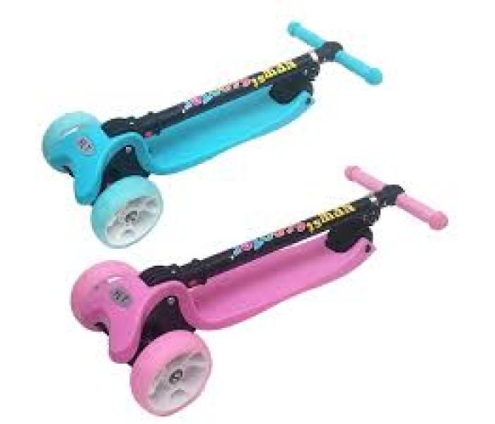 Самокат для детей от 3 лет со складной ручкой и светящимися колесами