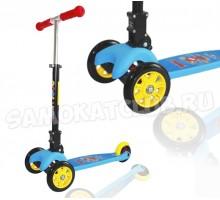 Самокат детский Swift Scoo Explore складной (голубой) + передние светящиеся колеса