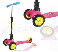 Самокат детский Swift Scoo Explore складной (розовый) + передние светящиеся колеса