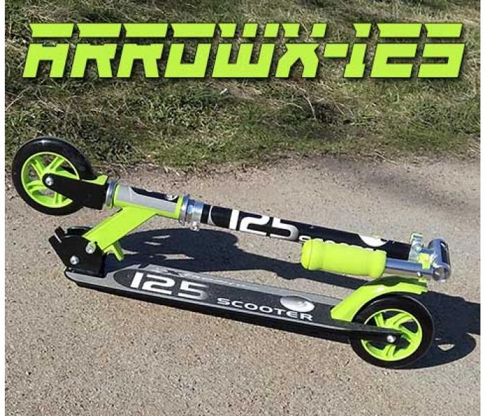 Детский самокат ARROWX от 4-7 лет салатовый