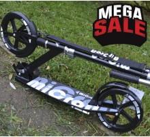 Самокат MICRON XL1- BLACK для взрослых с большими колесами