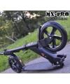 Самокат для школьников MX-PRO Black с большими колесами 200мм