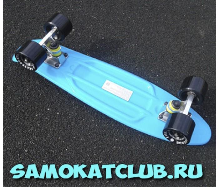 Голубой скейт мини-борд FISH