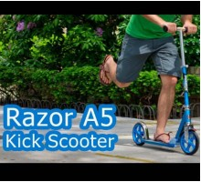 Самокат Razor A5 Lux 200мм складной blue