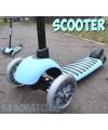 Трехколесный самокат для детей Scooter голубой