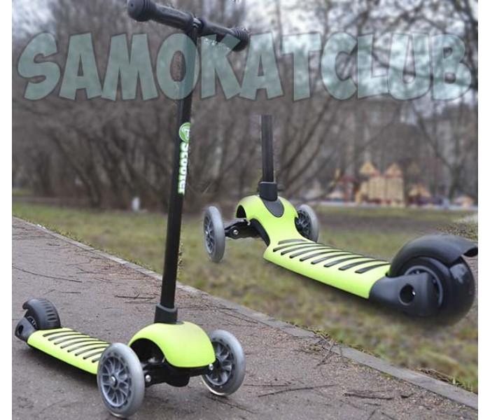 Детский самокат Scooter Микро Green поворачивает наклоном