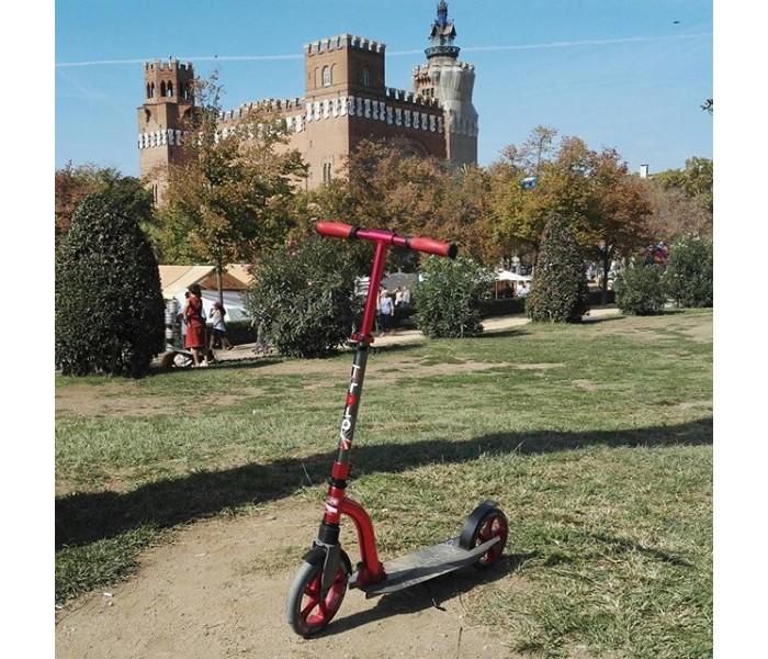Самокат Trolo LUX Quantum Red с амортизатором и большими колесами