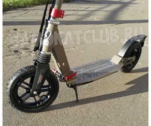 Самокат Explore ASCONA с большими надувными колесами и амортизаторами (Хаки)