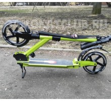 Самокат ORZ scooter-200 GREEN  с 2-мя амортизаторами