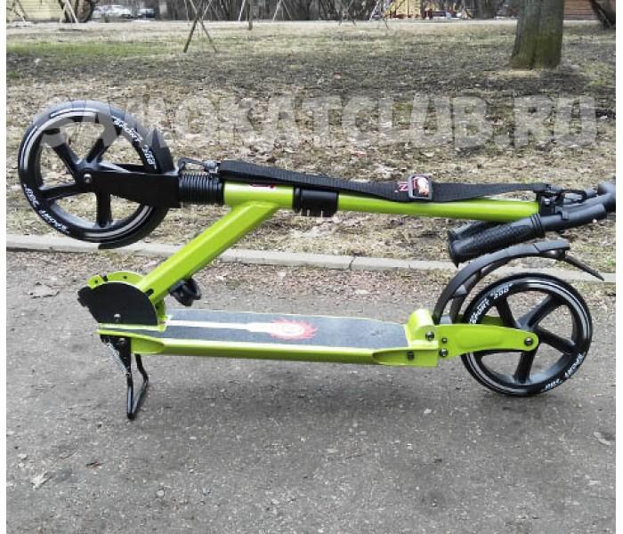 Самокат для взрослых RZ-200 с амортизаторами и большими колесами