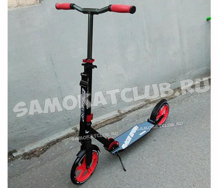 Самокат RACE с большими колесами 250-230мм (красный) для взрослых
