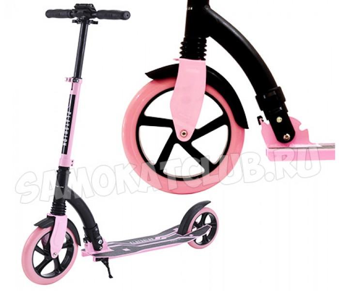 Самокат для девушки с большими колесами Playshion SUPER pink