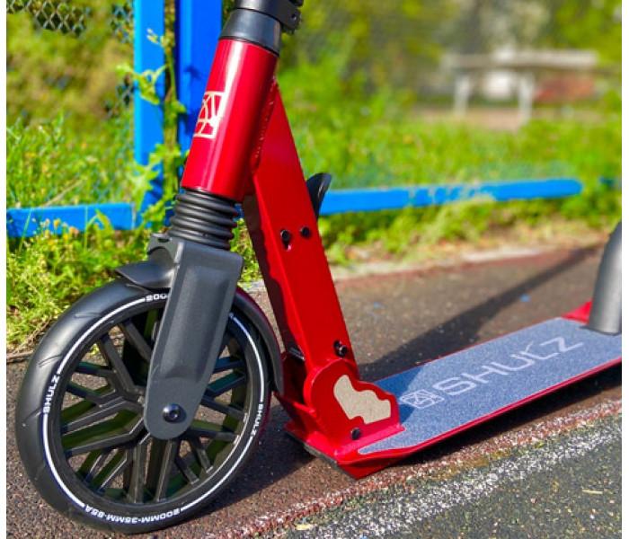 Самокат Shulz 200 Red с большими широкими колесами