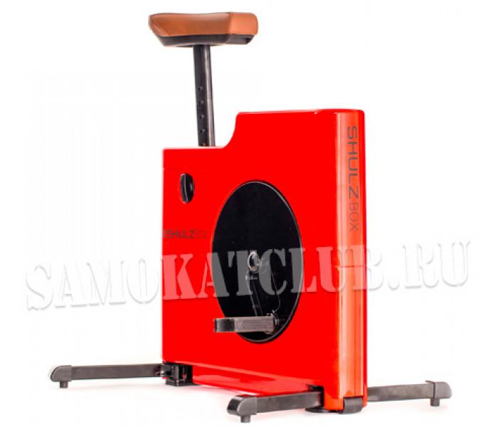 Компактный велотренажер ShulzBOX красный  (для стола)