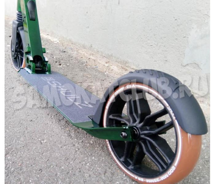 Самокат Shulz 200 Green с большими широкими колесами