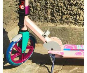 Самокат ORZ 200 (2019) розовый с большими колесами 200мм