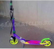 Самокат ORZ (2019) фиолетовый с большими колесами 200мм