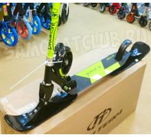 Самокат на лыжах RAVEN-145 green 2в1 (зима-лето)