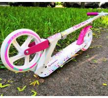 RAVEN 2019 самокат с большими колесами 200мм бело-розовый