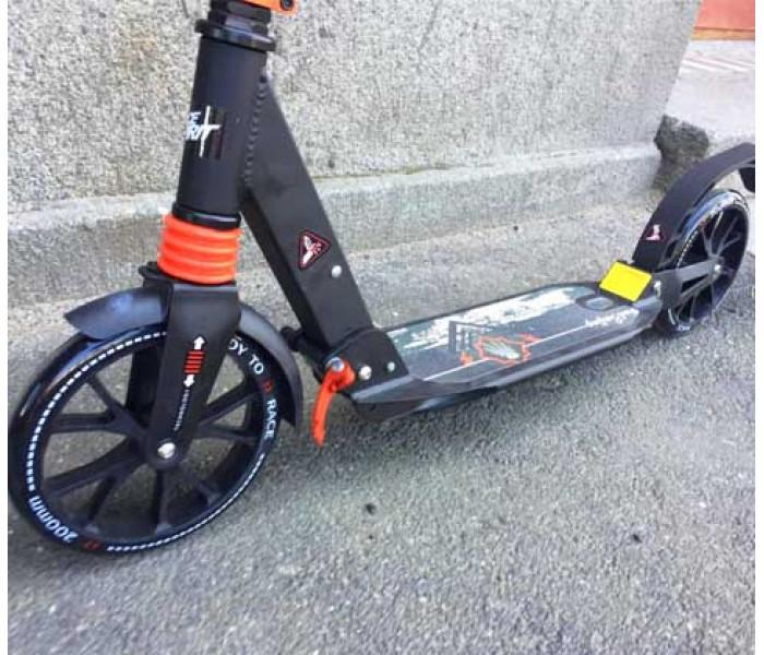 Самокат RACE SPIRIT 200-200A (2019) черный с большими колесами