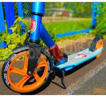 ORZ Blue/Orange 2020 самокат с большими колесами 200мм