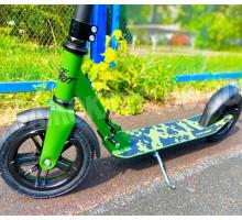 Race Spirit Хаки легкий самокат с надувными колесами