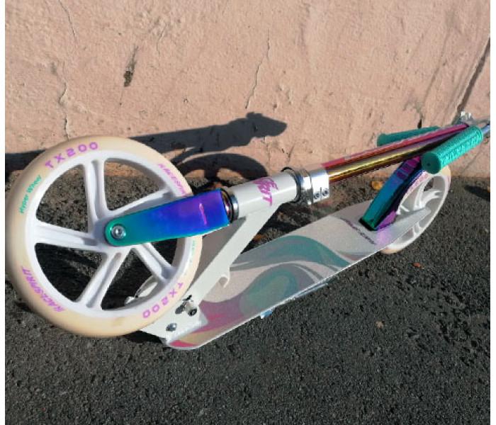 Легкий складной самокат Race Spirit 200 Neo мятно-белый
