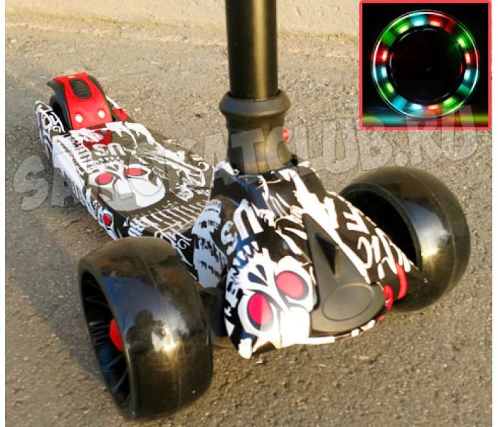 Детский трехколесный самокат Scooter Maxi с рисунком (складной)