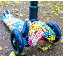 Scooter Print 2019 складной самокат со светящимися колесами