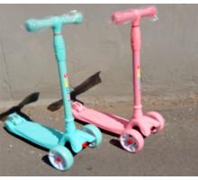 Scooter MAXI 2019 (мятный/розовый) самокат с широкими светящимися колесами