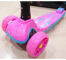 Scooter MAXI Pink складной самокат со светящимися колесами