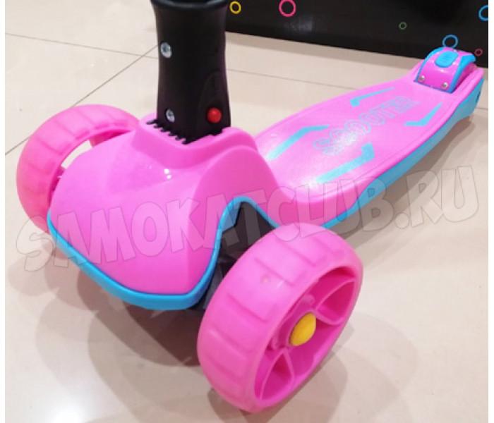 Трехколесный самокат для детей Scooter Maxi 2021г розовый