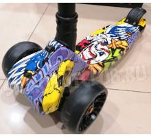 Scooter Maxi Clown самокат со светящимися колесами (складной)