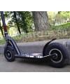Самокат с надувными колесами 200мм черный карбон