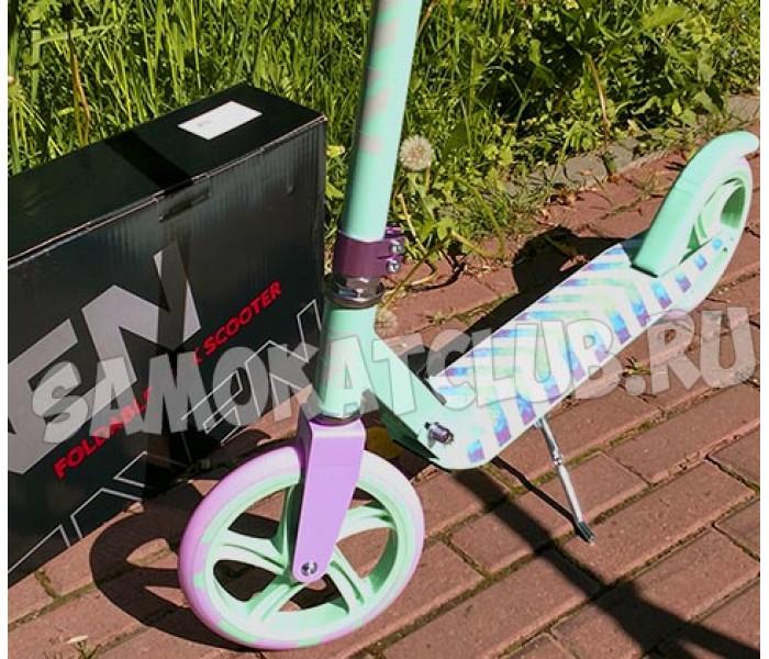 Самокат RAVEN Mint 2019 (мятный) с большими колесами 200
