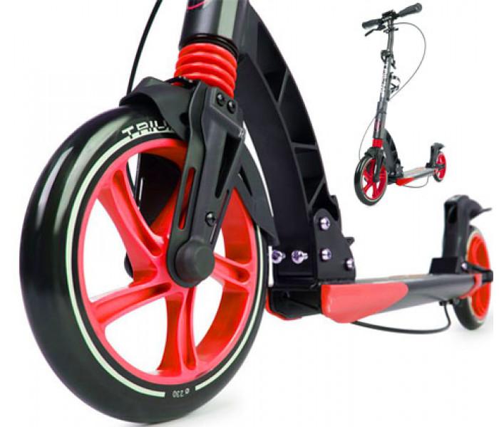 Cамокат Triumf Active K5 с большими колесами 230-200мм (устанавливается подставка для ребенка)