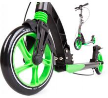 Cамокат Triumf Active K5 (черно-зеленый) с ручным тормозом