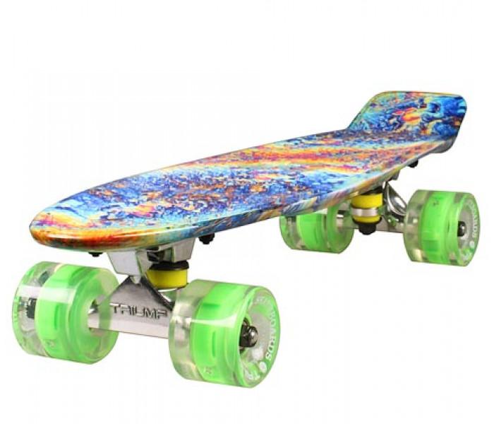"""Скейтборд Triumf Active 22"""" FIREWAVE колеса светятся"""