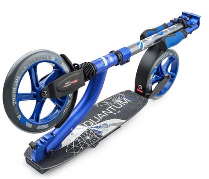 Самокат Trolo LUX Quantum II (синий) с двумя амортизаторами и большими колесами
