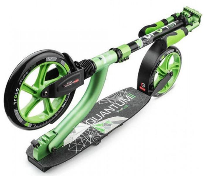 Самокат Trolo LUX Quantum II (зеленый) с двумя амортизаторами и большими колесами
