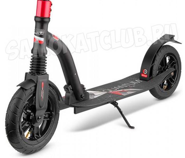 Самокат Trolo LUX Quantum Air Black MATT (черный) с надувными колесами