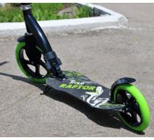 Trolo Raptor 230 самокат с амортизатором и болишими колесами (зеленый графит)