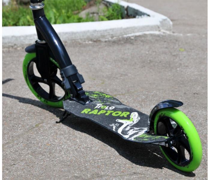 Самокат Trolo Raptor-230 с амортизатором и большими колесами (зеленый)